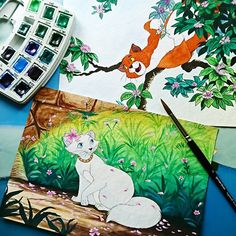 Disney Animated Movies, Aristocats, Disney Animation, Disney Art, Cat Day, Drawings, Happy, Painting, Fictional Characters