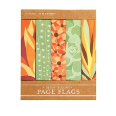 Desert Blooms Page Flags