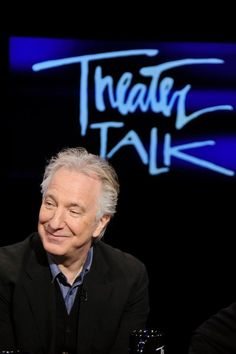 "January 13, 2012 -- Alan Rickman was on ""Theater Talk."" This is a screen-cap from that."