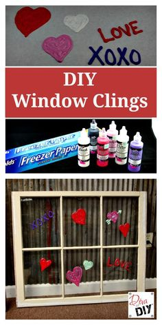 DIY Window Clings are an easy project to get the kids crafting for any upcoming holiday or occasion. The perfect Valentine's Day Kids Craft decoration! http://divaofdiy.com/diy-window-clings-just-time-valentines-day/