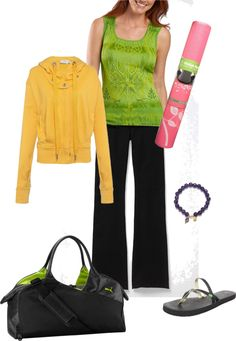"""My """"maybe I'd go to yoga if I had cute yoga clothes"""" outfit, created by tabbyabby on Polyvore"""