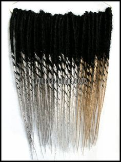 Dread extensions Double ended synthetic dreads by Neon Black
