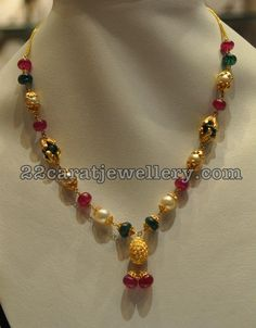 Simple Jewellery for Kurthis - Jewellery Designs