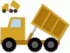 Silhouette Design Store - View Design #59768: dump truck up
