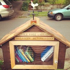 we put a little free library in our yard. best decision ever. I love this, and Kelly Rae Roberts. Love and creativity flow freely from her heart. Little Free Libraries, Little Library, Free Library, Library Card, Mini Library, Kelly Rae Roberts, Lending Library, Community Building, Outdoor Art