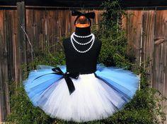 Birthday+Tutu++Blue+Tutu++Sewn+Blue+Black+and+White+by+TiarasTutus,+$35.00