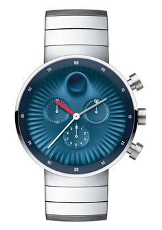 """Movado Edge Watches Designed By Yves Béhar - See more about it & the other designs - on aBlogtoWatch.com """"This is a Museum Dial timepiece for the Apple Watch generation, complete with modern curves mixed with nuances from nature. In static pictures, the concave dial looks like an aerial view of Saharan sand dunes or perhaps some view of an industrial turbine. In actuality, the three-dimensional dial was designed for a very specific purpose..."""""""