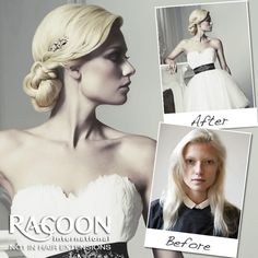 Make your special day even better with professional hair extensions. Why not ask your new Racoon certified stylist for a head of Micro Weft extensions, they can be applied in less than an hour, perfect for the big day and honeymoon break!    Click on our Salon Finder tab on our website to find your nearest Racoon certified stylist.