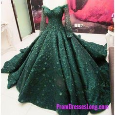 Simple Prom Dresses, green prom dress green evening dress lace prom dress ball gowns prom dress off the shoulder long sleeves lace prom dress LBridal Ball Gowns Prom, Ball Dresses, Prom Dresses, Ball Gowns Fantasy, Long Dresses, Formal Dresses, Royal Ball Gowns, Wedding Dresses, Quince Dresses
