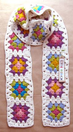 granny squares scarf crochet