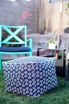 This fabric pouf is perfect for putting your feet up. Sit back, relax and make summer entertaining a breeze like @alisonwaken with patio accessories from Target Home. http://allforthememories.com/blog/2015/05/14/easy-backyard-party/
