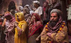 """Holi"", Colors Festival,  Bihari Banke Temple - Vrindavan (Ínida) - Kevin Frayer - 6.mar.12- Associated Press"