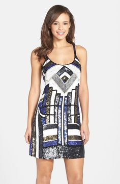 Embellished Shift Dress from @nordstrom - love how art deco this feels #nordstrom