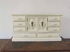 Large Jewelry Armoire Antique White Vintage Jewelry Box Gift My