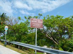 The Seven-Mile Historic Bridge in Marathon, Florida