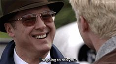When your co-worker asks you to come to his poker night that has a $25 buy-in. | 21 Red Reddington GIFs That Are Your Life