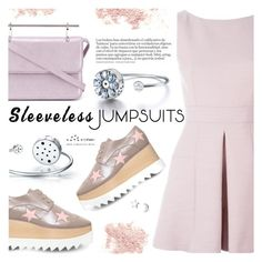 """All-in-One: Sleeveless Jumpsuits"" by totwoo ❤ liked on Polyvore featuring Alexander McQueen, Bare Escentuals, STELLA McCARTNEY and M2Malletier"