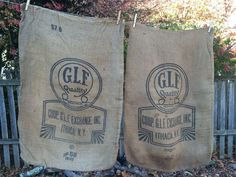 Lot Of 2 Vintage Red Rose Burlap Feed Sack Dairy Farm Cow 100lb Double Sided