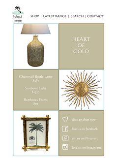 Modern metallica... in burnished golds.