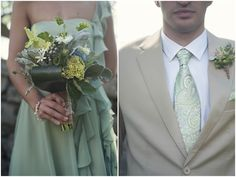 Romantic & Rustic Sage, Grey & Lilac Wedding On Elihu Island | Bridal Musings