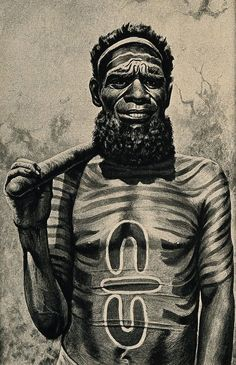 An Australian Aboriginal medicine man with a symbol on his chest that was also found at Göbekli Tepe. (Wellcome Images/CC BY) Aboriginal Symbols, Aboriginal Man, Aboriginal Culture, Aboriginal People, Australian Aboriginal History, Arte Black, Bird People, Wellcome Collection, Tribal People