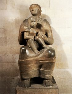 Henry Moore - Madonna and Child eye lines- way of activating surrounding space to draw the viewers attention