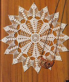 Magic Crochet Nº 12 - Rosio Llamas - Picasa Web Albums Crochet Circles, Crochet Doily Patterns, Crochet Diagram, Crochet Motif, Diy Crochet, Crochet Stitches, Crochet Dollies, Crochet Buttons, Crochet Bedspread