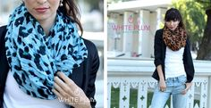 Leopard Infinity Scarves – 4 Color Options!