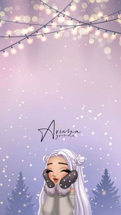 Ariana Christmas - Jessica W. Cute Wallpaper Backgrounds, Tumblr Wallpaper, Aesthetic Iphone Wallpaper, Girl Wallpaper, Cartoon Wallpaper, Disney Wallpaper, Cute Wallpapers, Phone Backgrounds, Aesthetic Wallpapers