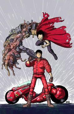 Akira - Kaneda and Tetsuo by Daniel Bayliss