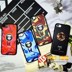 iphone7 オリジナルケースファッションブランド日本Aapeサル猿迷彩7plusソフト携帯カバー 6保護カバー6P