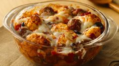 Add Italian cuisine to your family's dinner! Enjoy this baked meatball recipe made using Pillsbury® Grands!® frozen buttermilk or southern style biscuits – ready in 50 minutes.