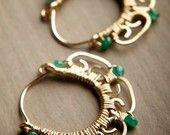 Small Silver Filigree Hoop Earrings: Meena - Made to Order. $98.00, via Etsy.