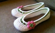 Labores de ganchillo: Diseños de zapatillas - Zapatillas de ganchillo para niñas