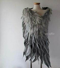 Wings felted shawl
