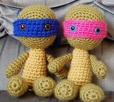 Free crochet pattern; Teenage Mutant Ninja Turtles Amigurumi