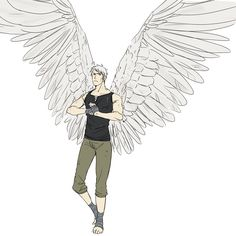 ((Since Gilbert was revived as a new country but for some reason, he has his wings, which are exactly like this.))