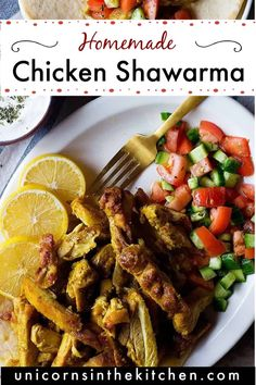 Forget about take out and try this homemade chicken shawarma! With the best spice mix and marinade, you'll have juicy and tasty chicken shawarma on the table in no time. Serve as a wrap in pita or lavash with salad, pickles and fries or as a bowl on some salad and rice. Follow my step-by-step tutorial to make the best every shawarma at home! Lunch Recipes, Vegetarian Recipes, Dinner Recipes, Cooking Recipes, Healthy Recipes, Healthy Meals, Delicious Recipes, Chicken Schwarma Recipe, Tofu