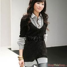 Two-Layered Office Long Sleeve
