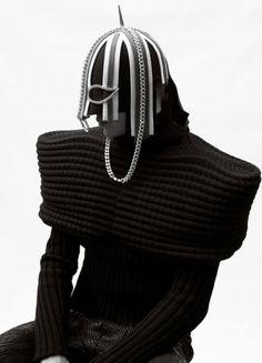 avant garde headpiece and jumper by Kim Choong-Wilkins - pinned by RokStarroad.com