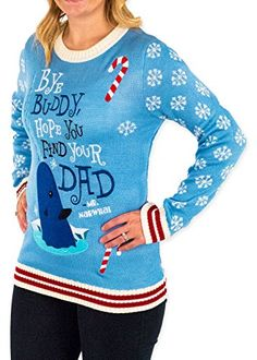 bec918b1a9b Elf Holiday Narwhal Ugly Christmas Sweater Ugly Sweater
