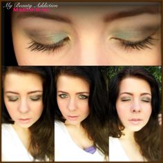 Second look inspired by the TOO FACED SUMMER EYE palette, using My Beauty Addiction (Mermaid shadow isn't as green as it appears to be)      Using My Beauty Addiction shadows. Inspired by the TOO FACED SUMMER EYE PALETTE! :)    -Mermaid on Lid  -Gypsy in Crease  -Gaia as Liner & Outer V  -Illumi as Brow highlight  -Gold Rush as Inner corner highlight