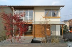 KINOIE SEVEN KINOIE GALLERY|キノイエセブン建築家作品サイト - Part 2 Garage House, Japanese House, Outdoor Life, Facade, Beautiful Homes, Floor Plans, Tropical, Exterior, Windows