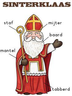 Poster sinterklaas labelen taal lezen Saints For Kids, Santa Pictures, Catholic Saints, Toddler Fun, Christmas Wood, Christmas Activities, Pre School, Diy Crafts For Kids, Kindergarten