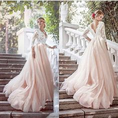wedding gown Blush tulle a line long tulle lace formal long dress,blush wedding dress. blush gown, color wedding dress, blush and white gown Blush Pink Prom Dresses, Blush Gown, Elegant Prom Dresses, Tulle Prom Dress, Pink Tulle, Tulle Lace, Lace Dress, Gown Dress, Pink Lace