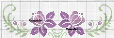 Here you can look and cross-stitch your own flowers. Cross Stitch Borders, Cross Stitch Flowers, Cross Stitch Designs, Cross Stitching, Cross Stitch Embroidery, Hand Embroidery, Cross Stitch Patterns, Bordado Tipo Chicken Scratch, Floral Embroidery Patterns