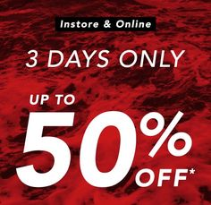 Up to 50% OFF Selected Winter Clearance - 3 Days Only @ Amanzon surf - Bargain Bro