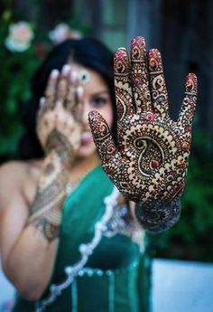 the darker the henna the deeper the love.