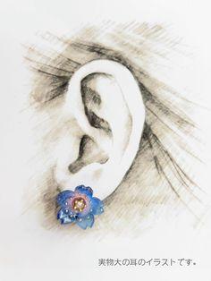 再販7*七色桜 〜きらりクリスタル〜  ピアス/イヤリング | ハンドメイド、手作り作品の通販 minne(ミンネ)