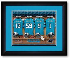 Carolina Panthers NFL Personalized Locker Room Print